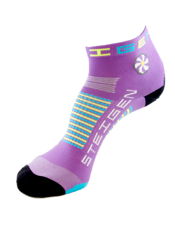 Steigen 1/4 Length Bubblegum Purple Socks