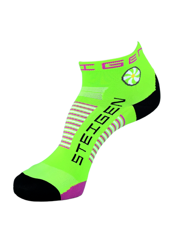 Steigen 1/4 Length Fluoro Green Socks