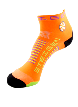 Steigen 1/4 Length Fluoro Orange Socks