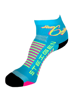 Custom Design Steigen 1/4 Length Run 6 Miles Ritzy Socks