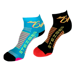 Custom Design Steigen 1/4 Length Run 6 Miles Socks (2-PACK)