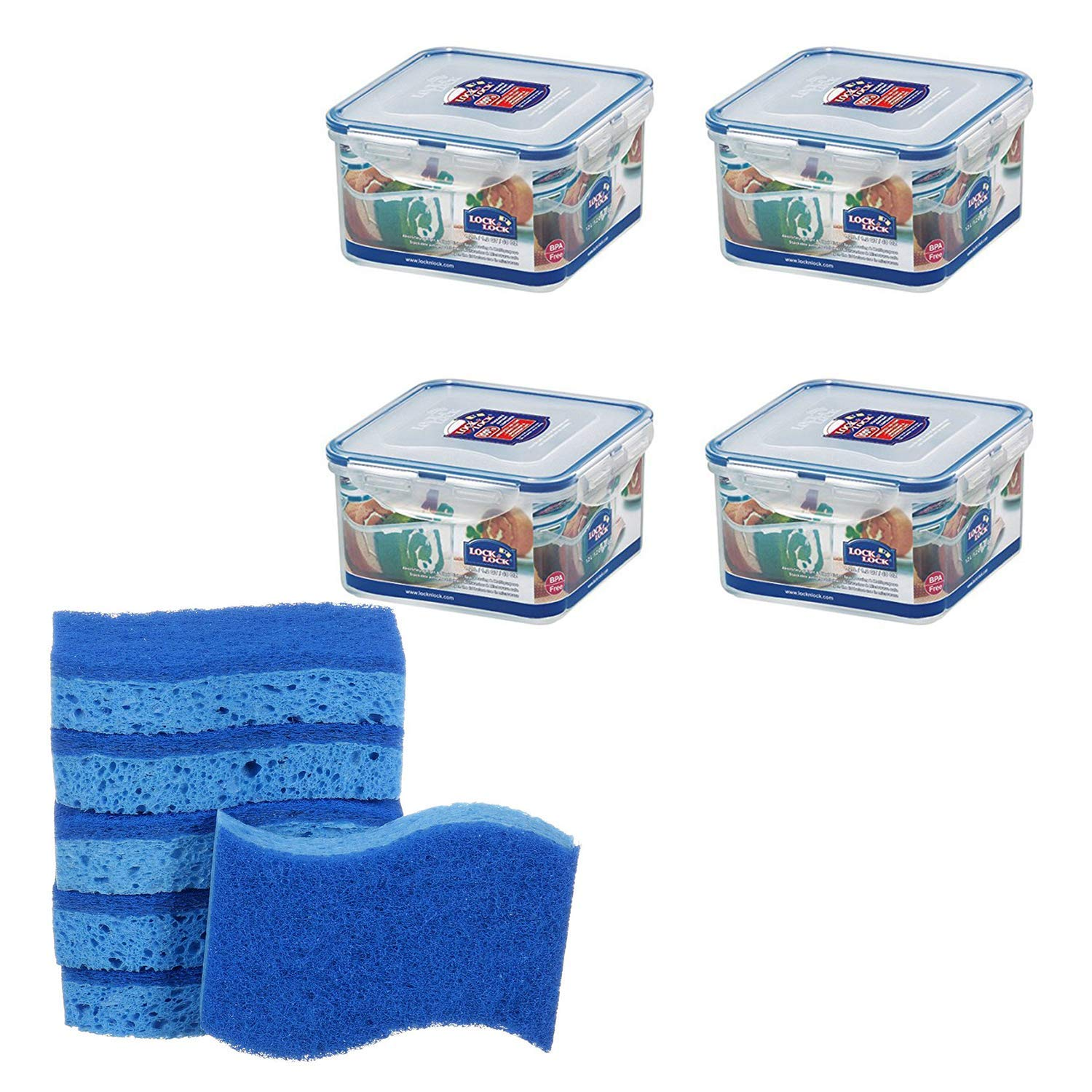 Hot offer (Pack of 4) Airtight Square Food Storage 🧡Limited-Time Offer
