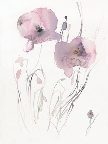 Pink Poppy small series 2 - Original Artwork
