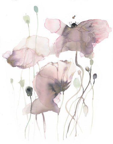 Original Artwork - Watercolor flowers - No 75