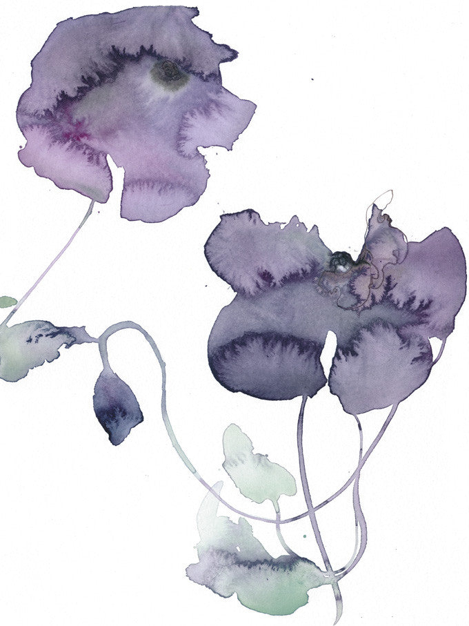 Original Artwork - Watercolor flowers - Art No 73