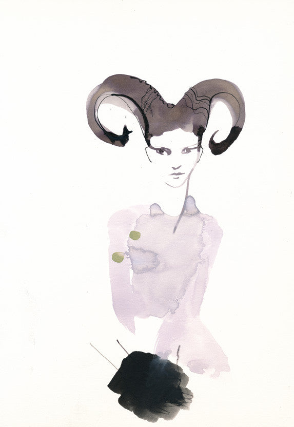 Original Artwork - Women with horns - Art No 64