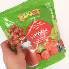 boost juice, smoothie mix, smoothie, fruit, healthy, postpartum