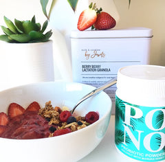 granola, lactation granola, breastfeeding, milk supply, probiotics, healthy, healthy mum, postpartum weightloss