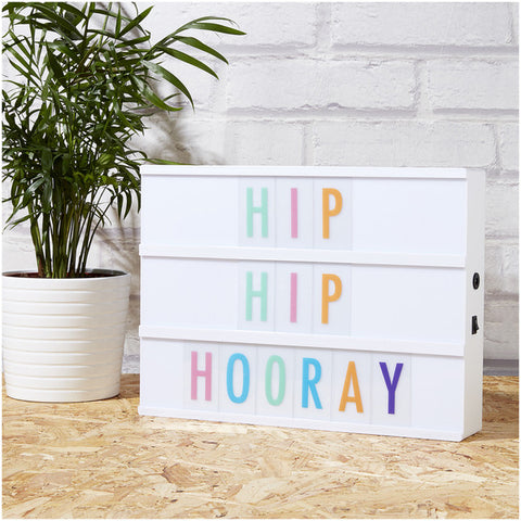WHITE CINEMATIC LIGHTBOX - A4 MULTICOLOR LETTERS