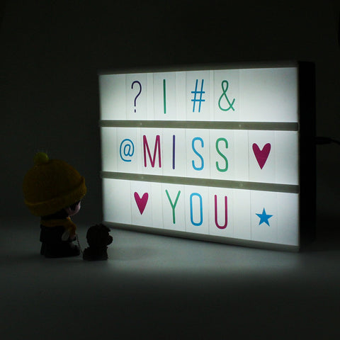 MINI CINEMATIC LIGHTBOX - A5 MULTI COLOR LETTERS