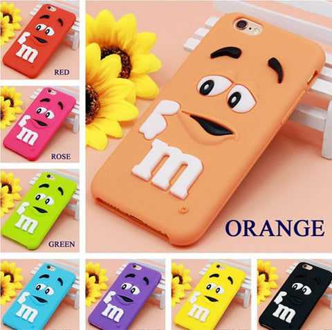 M&M's Chocolate Candy Rubber Case For iPhone 6 6S plus 7 - olae