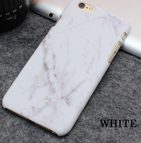 iPhone 7 White marble texture case - olae