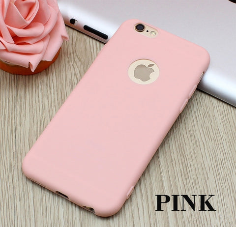 Iphone 7 Plus Luxury Soft Pink Silicon Case - olae