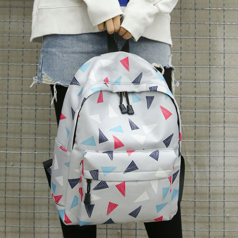 TRIANGULAR PATTERN BACKPACK - MULTICOLOR