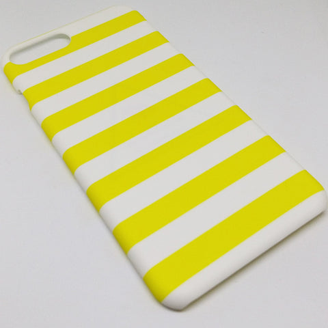 YELLOW AND WHITE  STRIPES CASE FOR IPHONE 7PLUS
