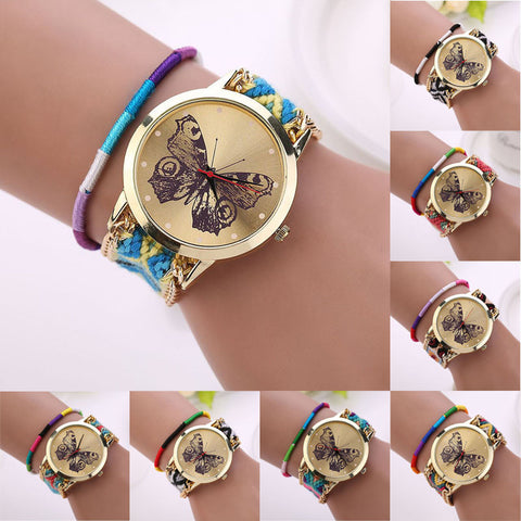 BUTTERFLY  KNIT WATCH