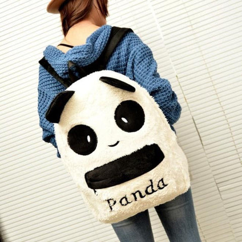 PRE ORDER PANDA PLUSH BACKPACK - WHITE