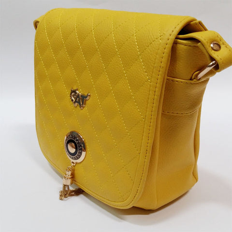 WOMEN HANDBAG QUALITY BAG - YELLOW