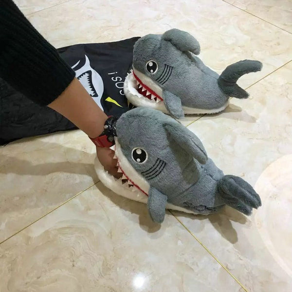 SHARK PLUSH SHOES