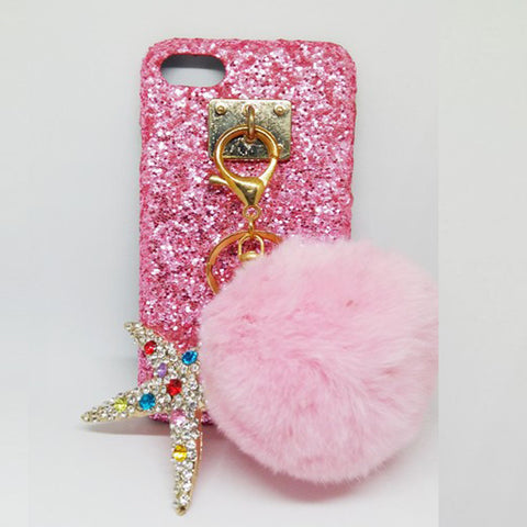 STAR GLITTER CASE FOR IPHONE 7 7PLUS PINK