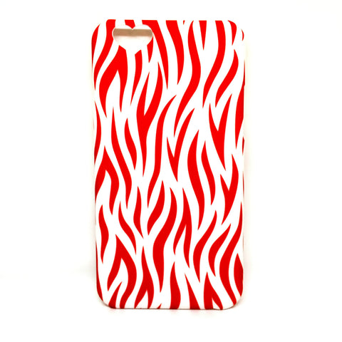 HEART BACK CUT ZEBRA CASE FOR IPHONE 6 6S - RED