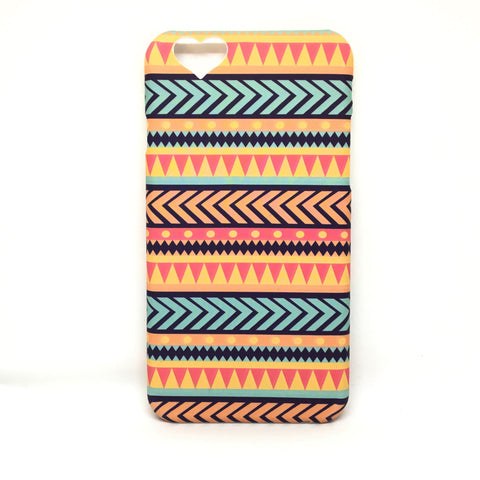 HEART BACK CUT AZTEC CASE FOR IPHONE 6 6S - MULTICOLOR