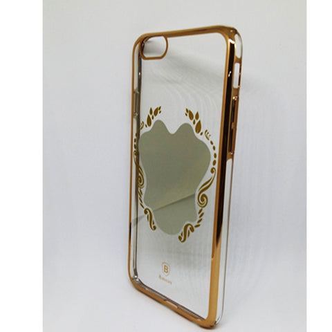 BASEUS ULTRA SLIM  TRANSPARENT MIRROR CASE FOR IPHONE 6 6S GOLD