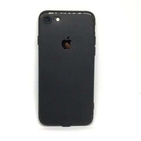 APPLE CUT LOGO RUBBER CASE FOR IPHONE 7- BLACK