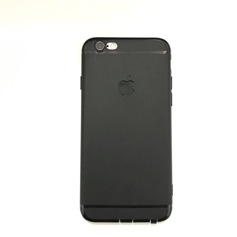 APPLE CUT LOGO RUBBER CASE FOR IPHONE 6 6S- BLACK - olae