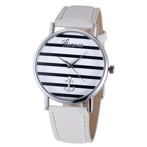 ANCHOR WRIST WATCH- SILVER WHITE