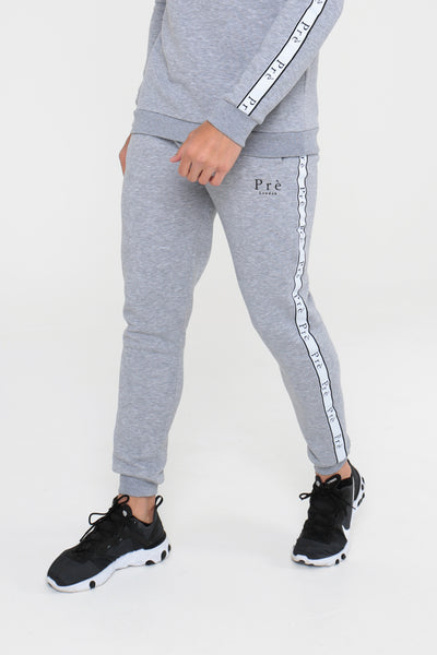 Enigma Taped Joggers - Grey