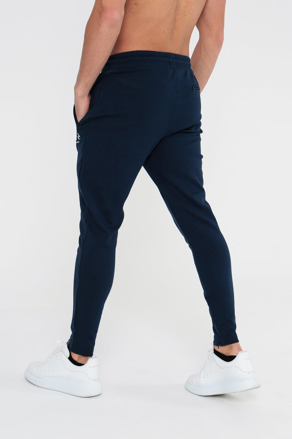 Pleated Joggers - Navy