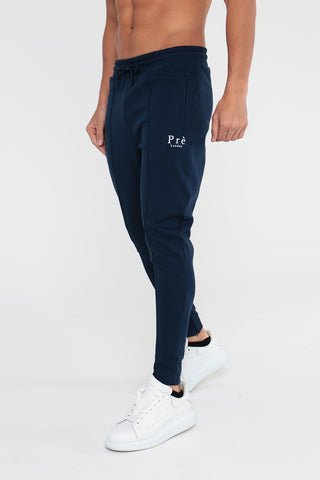 Pleated Jogger - Navy