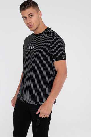 Energy Pinstripe T-Shirt - Black