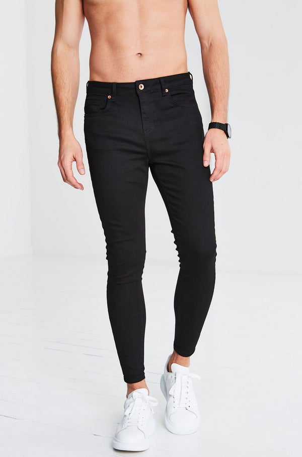 Non Ripped Jeans - Black