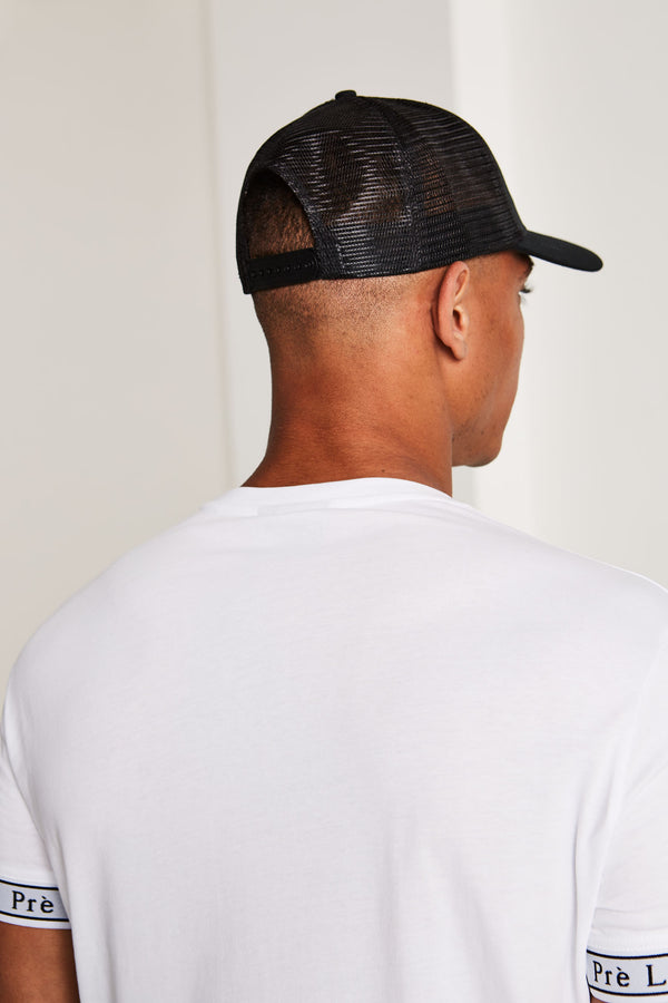 Mesh Trucker Cap - Black/White