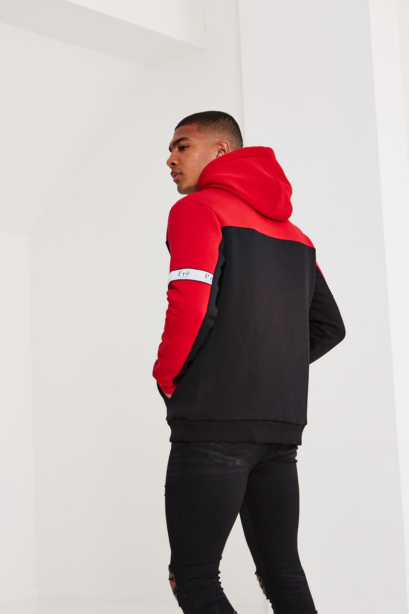 Prè Eclipse Hoodie - Red/Black