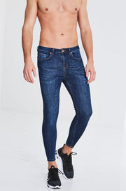 Granada - Dark Blue Non Ripped Jeans
