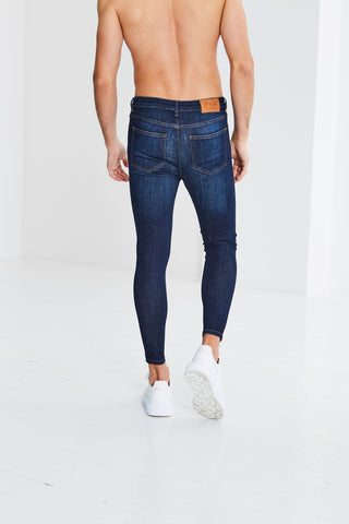 Granada Ripped and Repaired Jeans - Blue