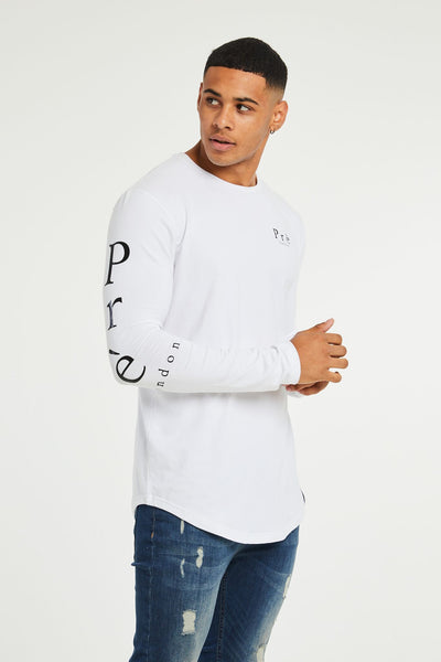 Statement Long Sleeve T-Shirt - White
