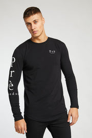 Long Sleeve Statement Tee - Black