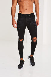 Kinver Frayed Hem black jeans
