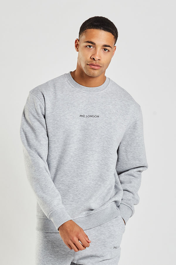 Prè Essentials Sweat - Grey Marl