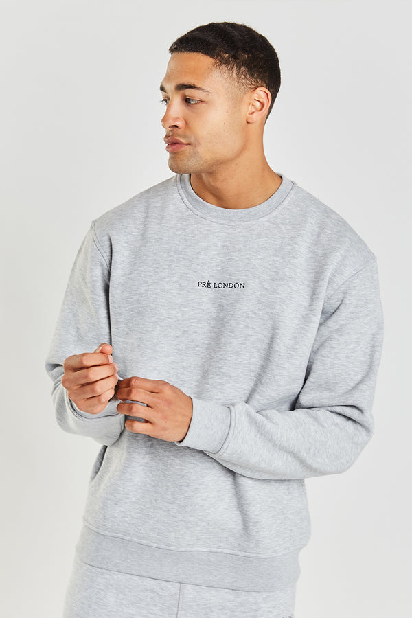 Prè Essentials Oversize Sweat - Grey Marl