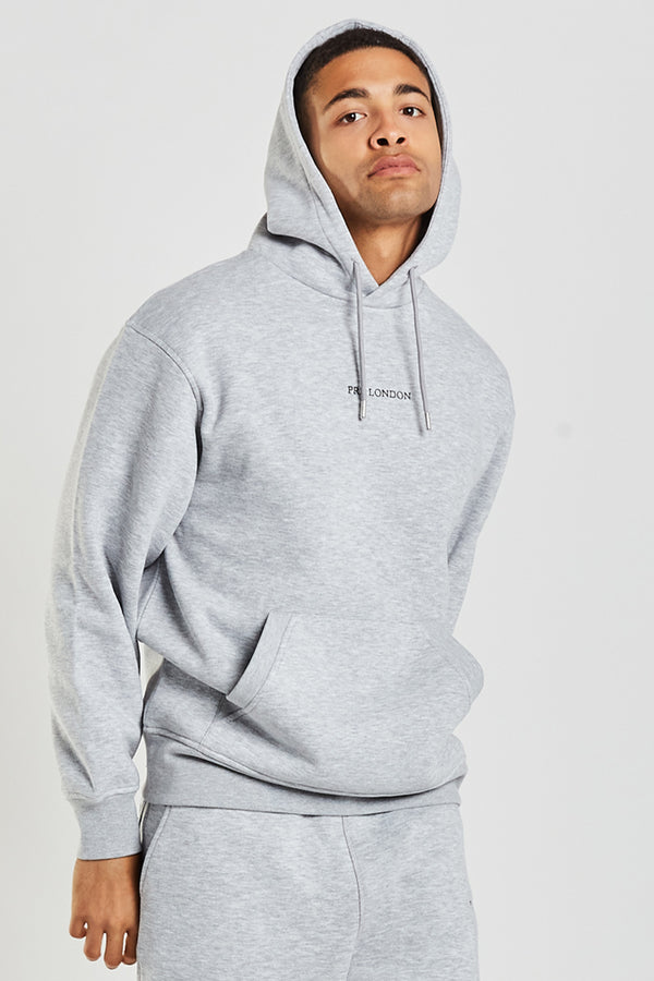 Prè Essentials Oversize Hood - Grey Marl