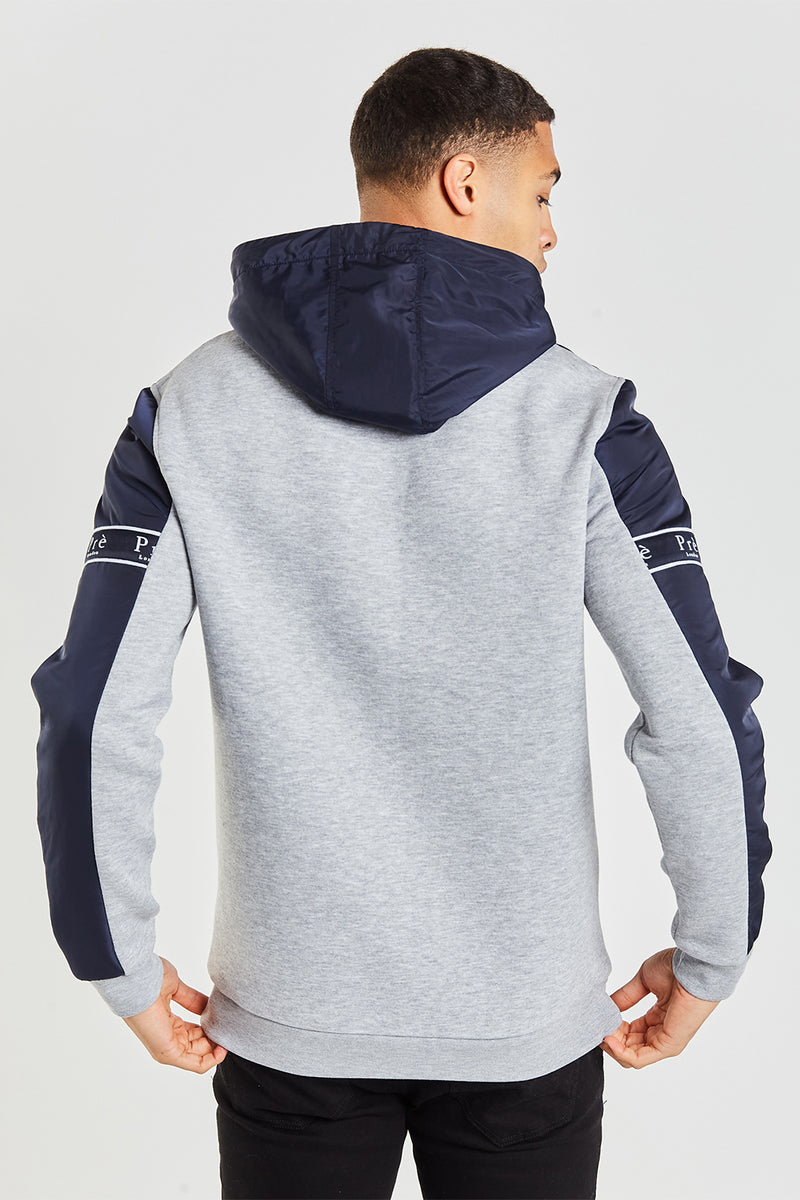 Eclipse Nylon Hood Navy/Grey Marl