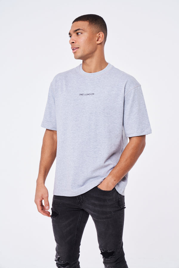Prè Essentials Oversize T-Shirt - Grey Marl