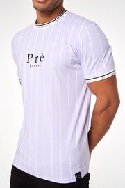 Power Pinstripe - Lilac/White