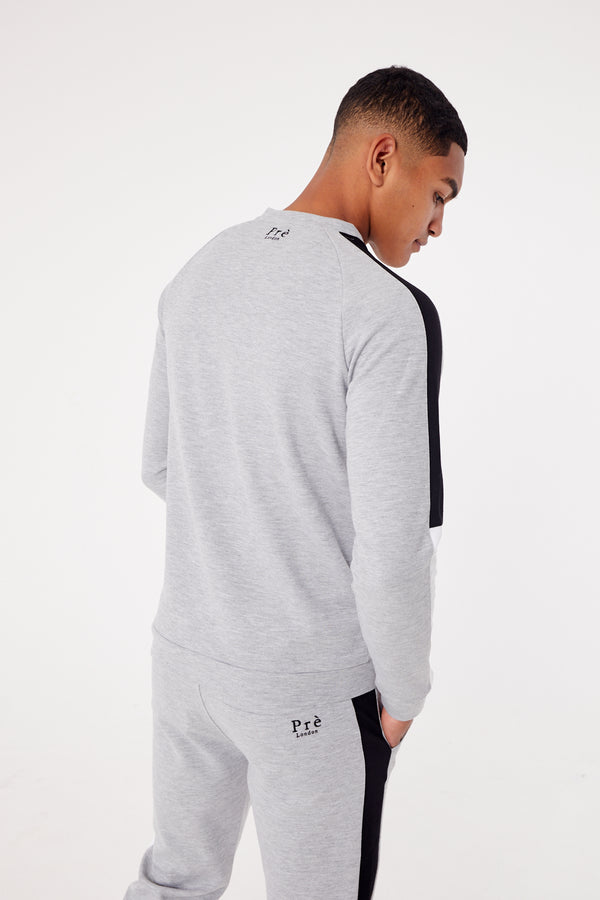 Toro Sweat- Grey Marl/Black