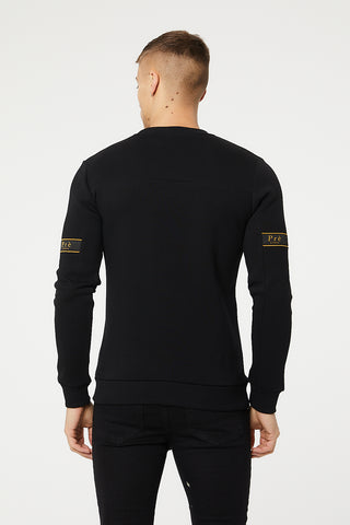 Eclipse Crew Sweat -  Black/Gold